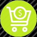 .svg, cart, dollar, dollar sign, shopping, shopping cart, sign icon