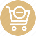 .svg, cart, commerce, minus, remove, shopping, shopping cart icon
