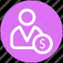 .svg, dollar, dollar sign, man, money, person, user icon