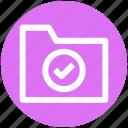 .svg, accept, check, check mark, folder, folder accept, verification mark