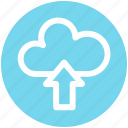 .svg, cloud and upload sign, cloud computing, cloud network, cloud upload, cloud uploading icon