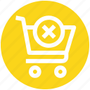 .svg, cart, cross, cross sign, shopping, shopping cart, sign icon