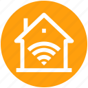 .svg, home, home network, house, internet, signals, wifi