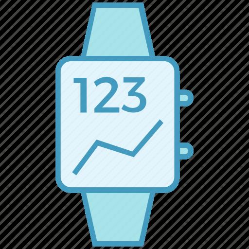 data analytics, device, kpi, smart watch, watch icon