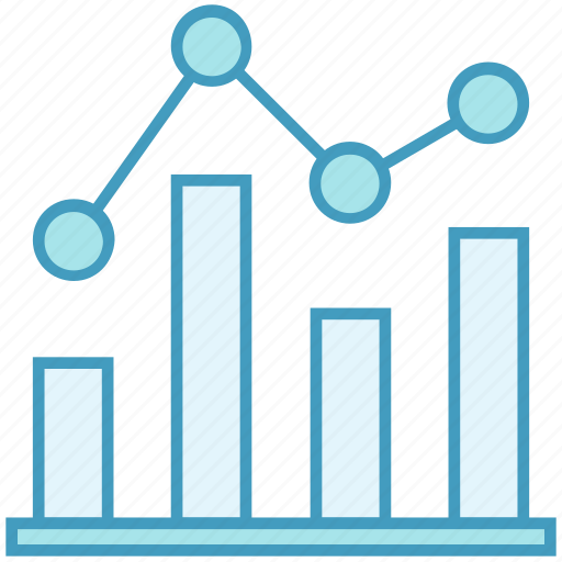 analysis graph, data analytics, diagram, graph icon