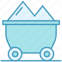 cart, data analytics, money, trolley icon
