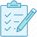 page, clipboard, data analytics, document, pencil, notepad, checklist