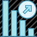 arrow, data analytics, graph, increase, increasing, statistics icon