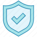 check, data analytics, mark, protection, secure, security, shield icon