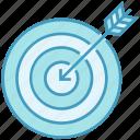 aim, archery, bulls eye, crosshair, data analytics, goal, stats icon