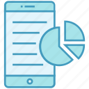 business, chart, data analytics, mobile, online, smartphone icon