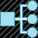 connection, data, data analytics, database, diagram, network, sharing icon