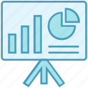 board, data analytics, graph, pie chart, project icon