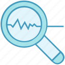 analytics, data analytics, explore, find, magnifier, scan icon