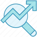 analysis, arrow, chart, data, data analytics, stats icon