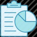 budget, chart, clipboard, data analytics, document, invest, pie chart icon