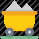 cart, data analytics, money, trolley icon