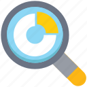 bar, chart, components, data analytics, graph, magnifier, search