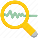 analytics, data analytics, explore, find, magnifier, scan icon