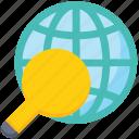 data analytics, find, global, magnifier, search, world