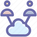 .svg, cloud, cloud computing, computing, traffic, two, users icon