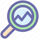 .svg, analysis, bar chart search, magnifying, search analytics icon