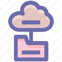 .svg, cloud, connection, data, directory, files, folder icon