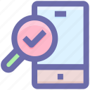 .svg, accept, mobile, searching, smartphone, zoom icon