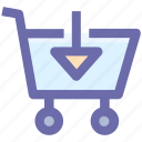.svg, arrow, cart, down, download, move, shopping