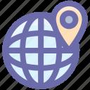.svg, globe, map, mountains, trip, world, world map icon
