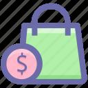 .svg, bag, dollar, hand bag, shopping, shopping bag icon