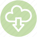 .svg, cloud and download sign, cloud computing, cloud download, cloud downloading, cloud network icon