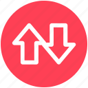 .svg, arrows, down, straight, streaming, up icon