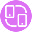 .svg, mobile sync, mobiles, phone, share, synchronization, update icon