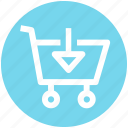 .svg, arrow, cart, down, download, move, shopping icon