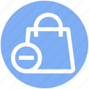 .svg, bag, gift bag, hand bag, minus, money bag, shopping bag icon