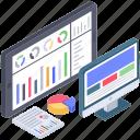 business analytics, data visualization, online analytics, online business analytics, web analytics icon