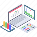 business analytics, data visualization, investment planning, online analytics, online business analysis icon