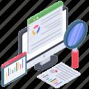 business analytics, data visualization, online analytics, online business analysis, web analysis icon