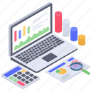 accounts monitoring, business monitoring, data analysis, data visualization, infographic icon