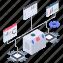 data analytics, data modeling, data visualization, infographic, statistics icon