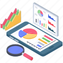 business chart analysis, report analysis, report auditing, report exploration, report monitoring icon