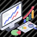 data analysis, data analytics, growth chart, infographic, statistics icon