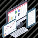 data visualization, online analytics, online business analysis, web analytics, web statistics icon