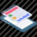 data analytics, infographic, mobile analytics, statistics, web analysis icon