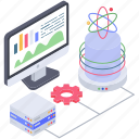 data analytics, data science system, data visualization, infographic, statistics icon