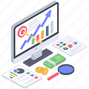 financial aim, financial goals, financial objective, financial purpose, financial target icon