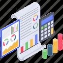 budget analytics, data analytics, data visualization, financial monitoring, infographic icon