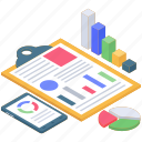 business chart analysis, business report, data analytics, infographic, statistic icon