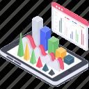 application analytics, data analytics, infographic, online analytics, statistics icon